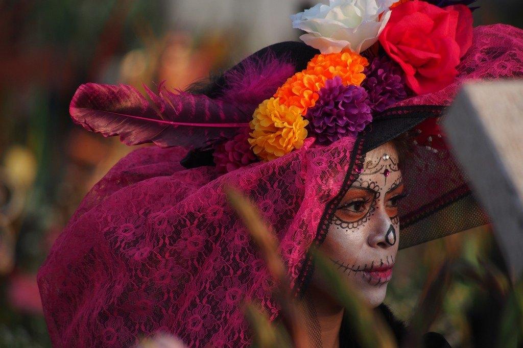 Panteón de San Andrés Mixquic en el Día de Muertos